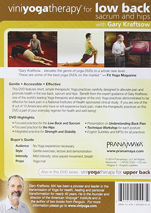 back of vinyoga dvd