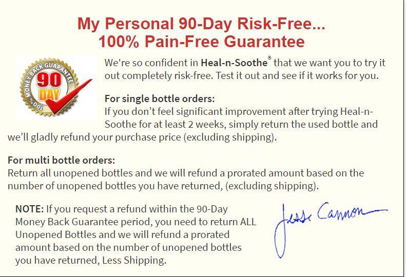 heal n soothe money back guarantee