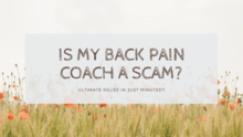 Back pain coach