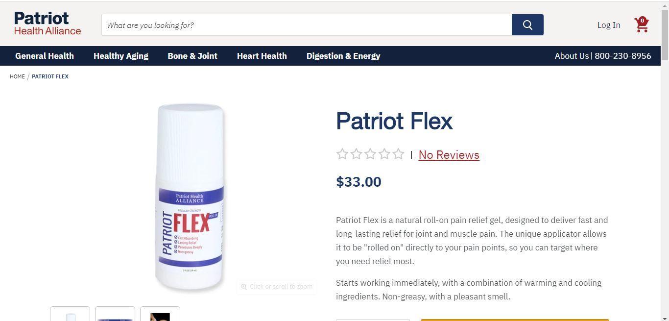 patriot flex home page