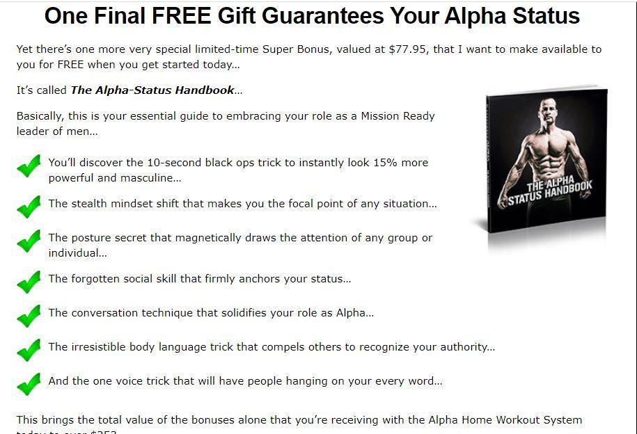 alpha status handbook