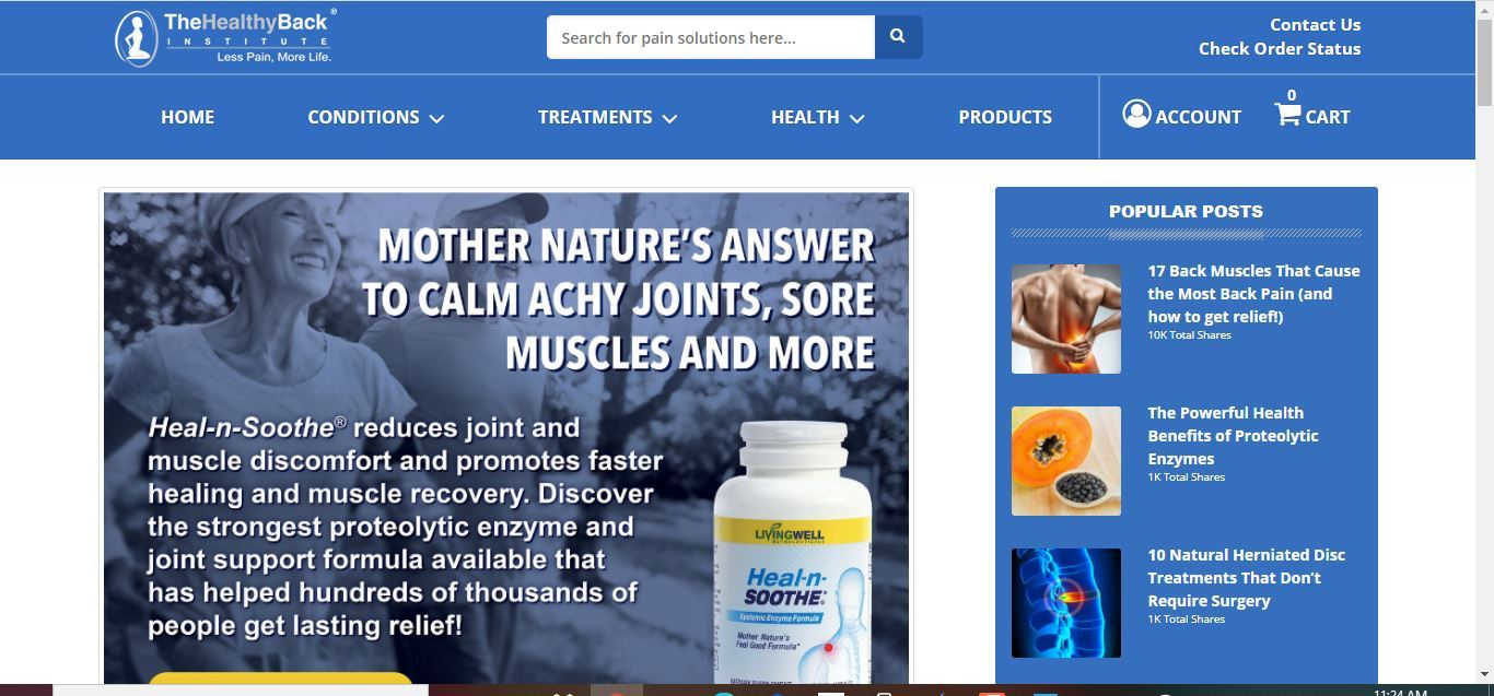 healthy back institute home page