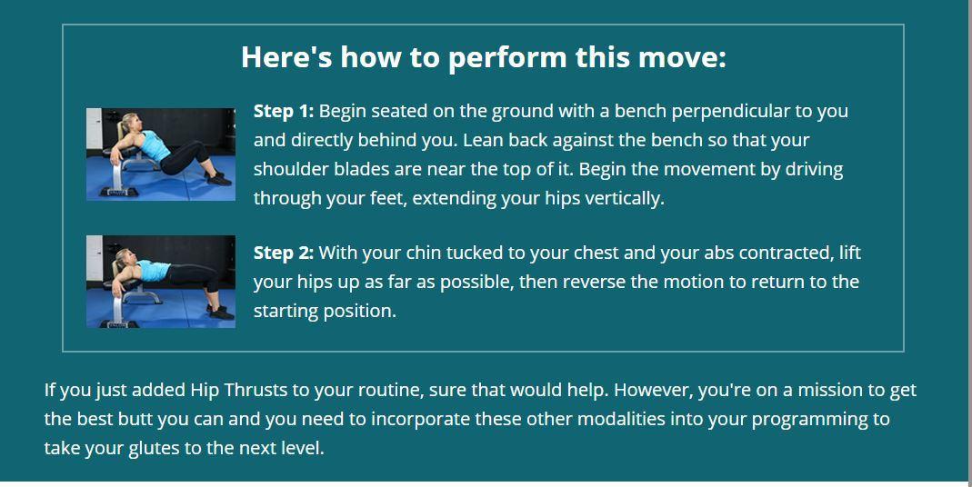 hip thrust perform
