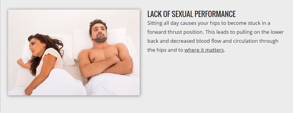 lack of sexual performance
