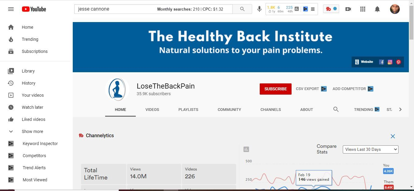 lose the back pain youtube