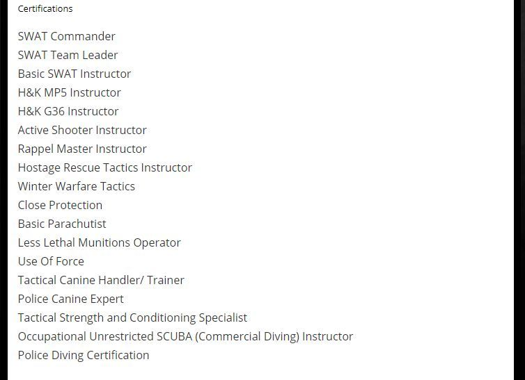 todd certifications