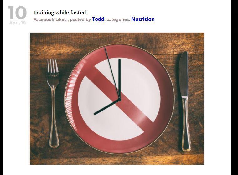 training fasting