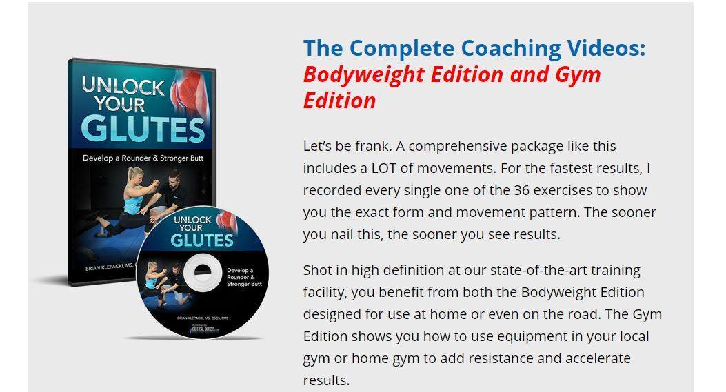 unlock your glutes complete coaching videos