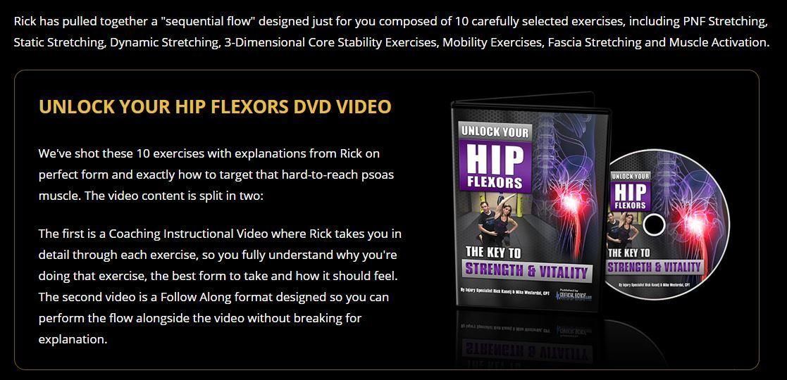 unlock your hip flexors dvd video
