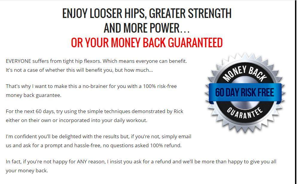 unlock your hip flexors refund